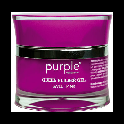 Gel Construtor Purple Queen Gel Sweet Pink 50g