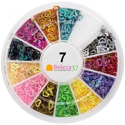 Roda 7 – Corações Holográficos em 12 cores