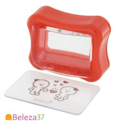 Carimbo Transparente e Raspador KONAD Clear Gelly Stamp Set - Vermelho
