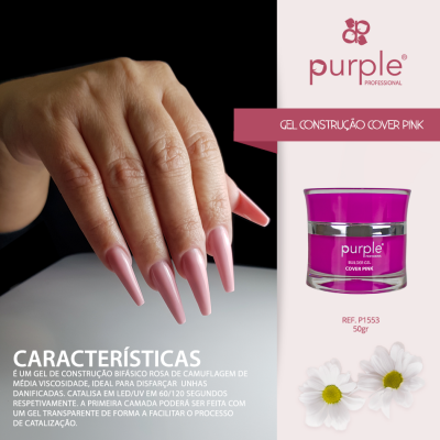 Gel Construtor Purple Cover Pink 50g