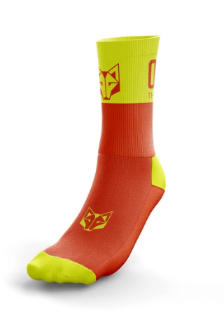 SOCKS MEDIUM FLUO ORANGE / FLUO YELLOW