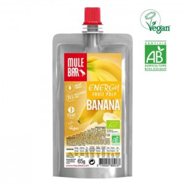 Polpa de fruta vegan e biológica de Banana 65g