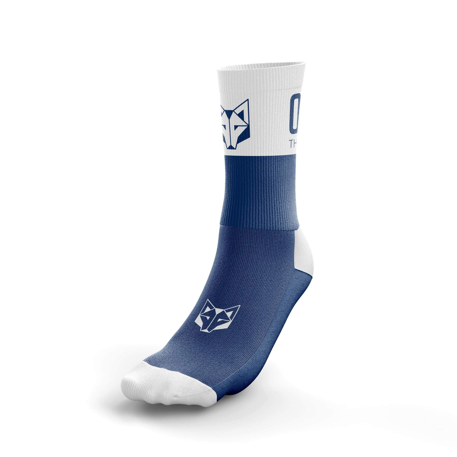 Multi-Sport Socks Medium Cut Electric Blue/White