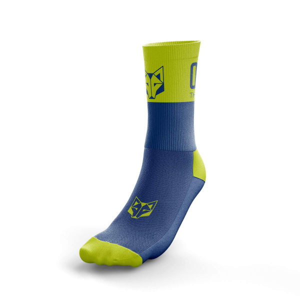 MULTI-SPORT SOCKS MEDIUM CUT BLUE/YELLOW