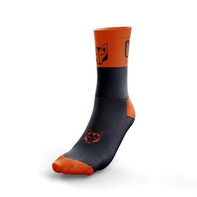 Multi-Sport Socks Medium Cut Black/Orange
