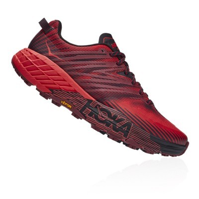 Hoka One One Speedgoat 4 - Cordovan / High Risk Red