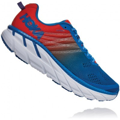 Hoka One One Clifton 6 - Mandarin Red / Imperial Blue