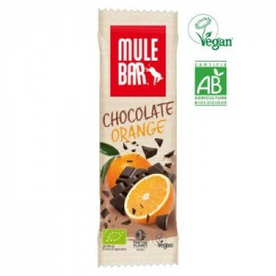 Organic-MULEBAR Chocolate e Laranja 40G