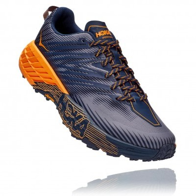 Hoka One One Speedgoat 4 - Black Iris / Bright Marigold