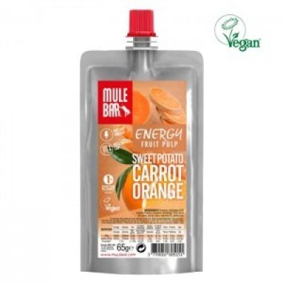 Polpa de fruta vegan Batata doce, Cenoura e Laranja 65g