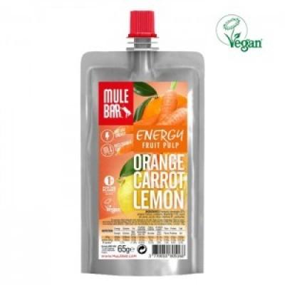 Polpa de fruta vegan de Laranja, Cenoura e Limão 65g