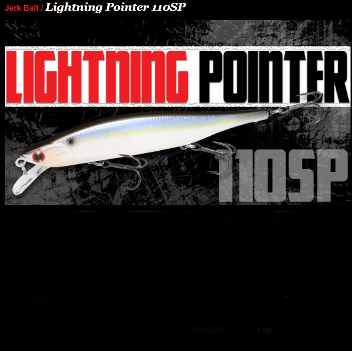Amostra Lucky Craft Lightning Pointer 110SP