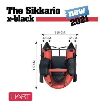 Pato Hart Sikkario X-Black + Barbatanas + Saco Hart Bow