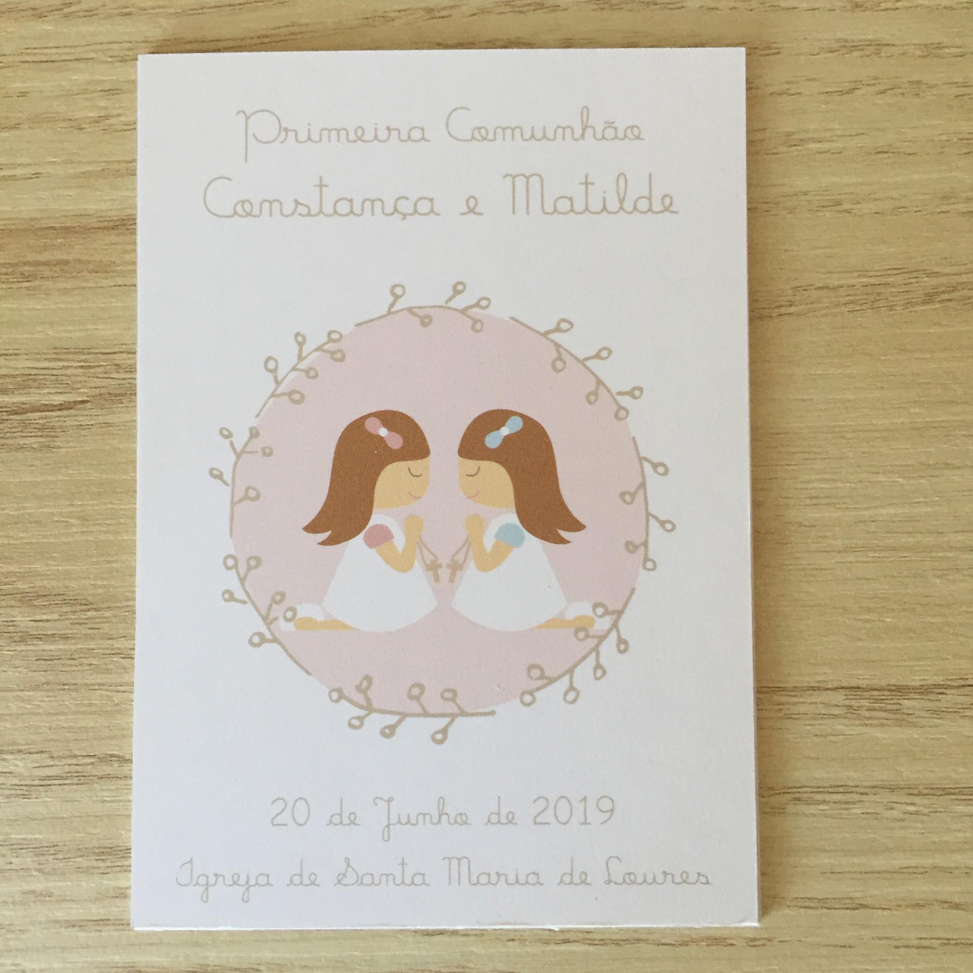 Cartões Primeira Comunhão - meninas