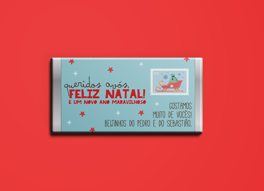 Chocolate Carta de Natal