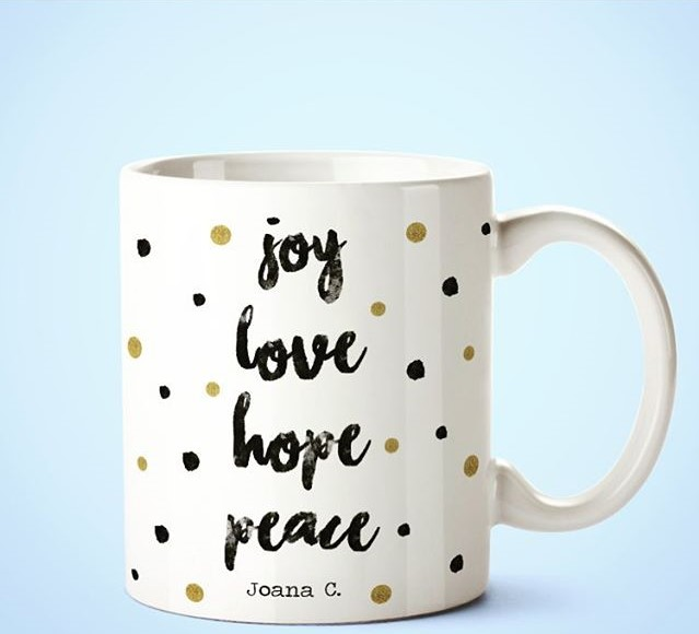 Caneca, Joy Love Hope Peace