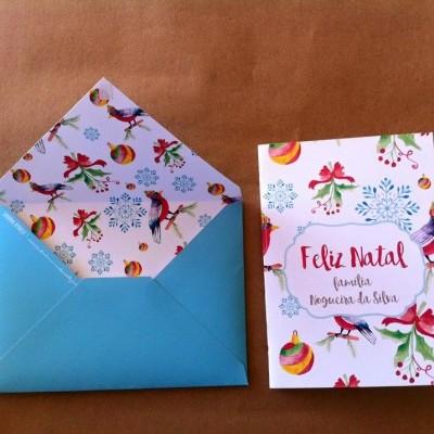 Postais de Natal com Envelope - várias opções