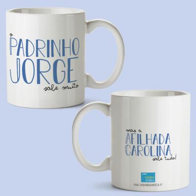 Caneca Madrinha/Padrinho sabe muito mas...
