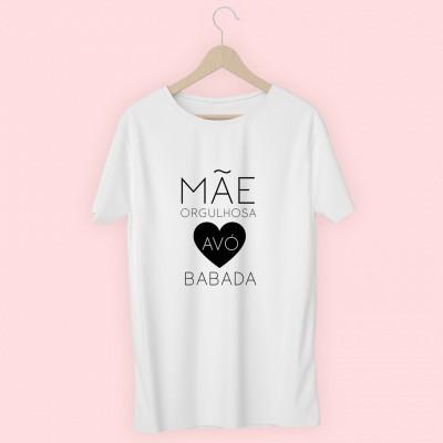 T-shirt Mãe Orgulhosa Avó Babada
