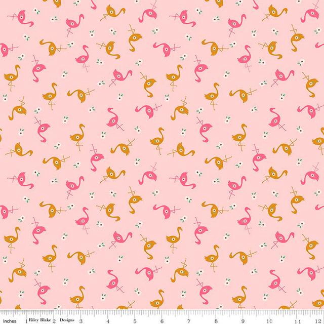 Stardust Flamingos Rosa Bebé Glitter Dourado Antigo