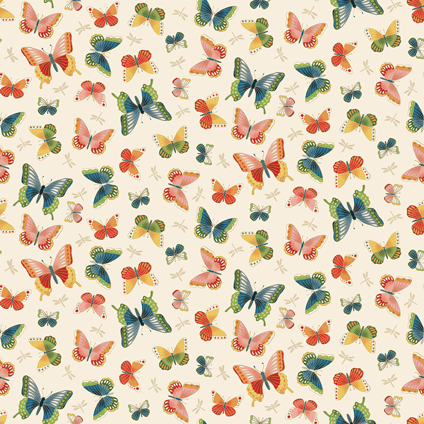 Michiko - Butterflies White