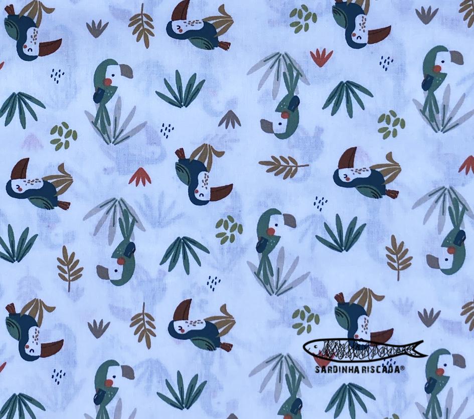 Selva - Tucanos - Algodão Orgânico