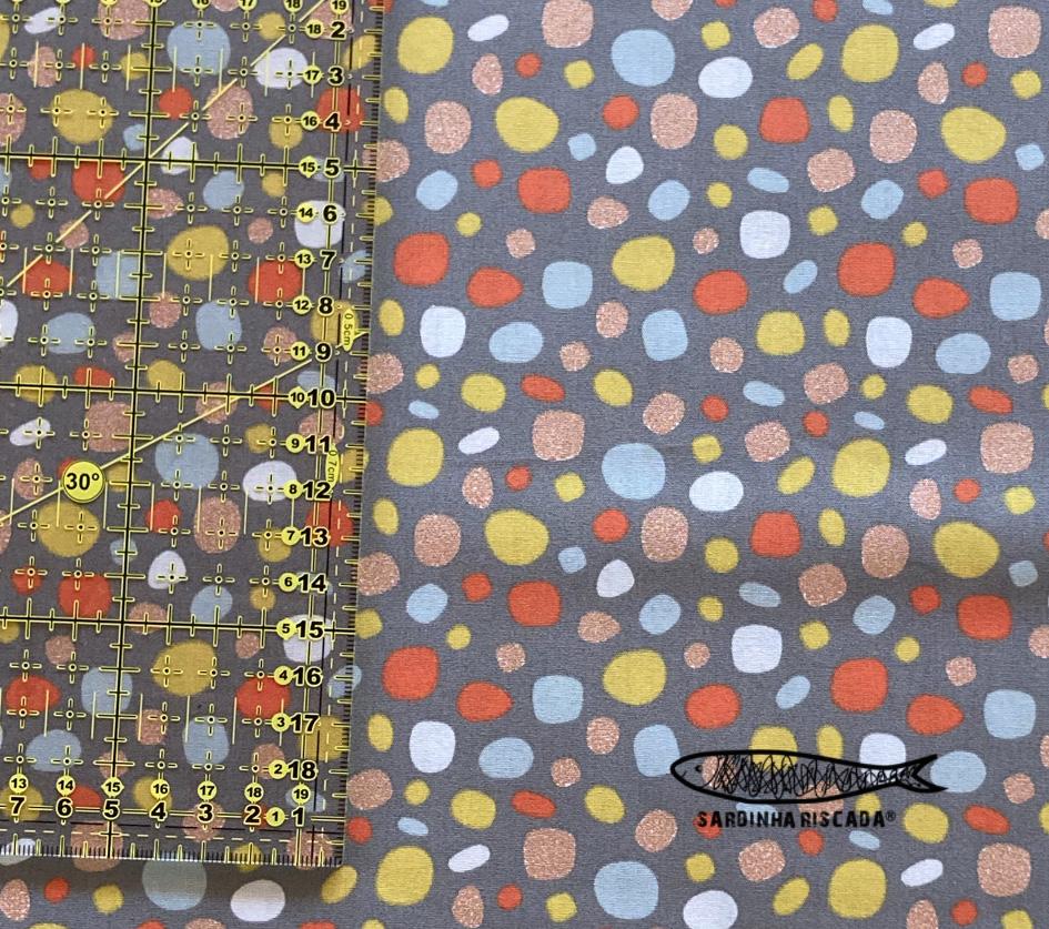 Dots - Cinzento com Glitter