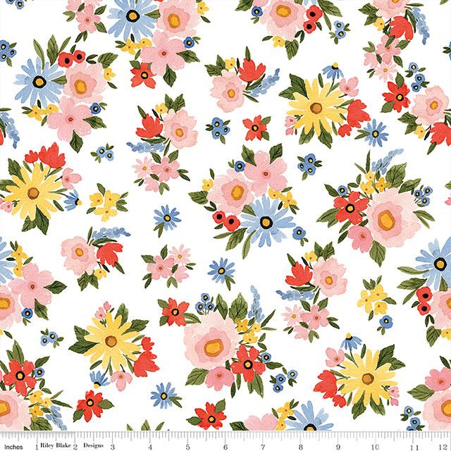 Beautiful Day Main Floral Branco