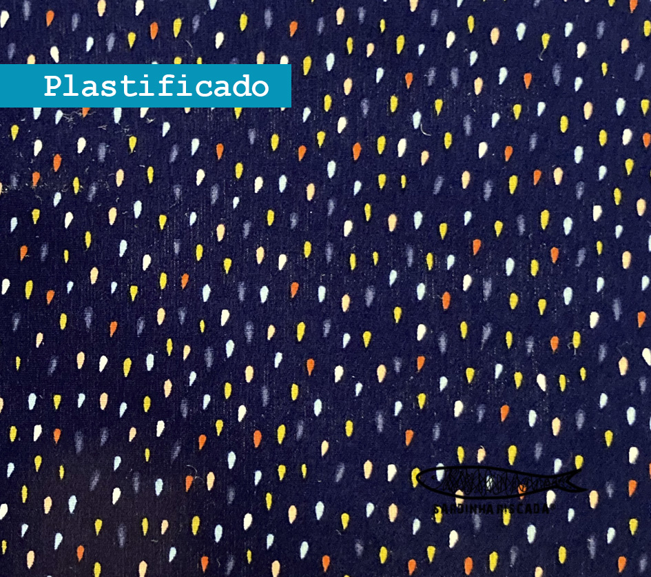 Pingos coloridos - Plastificado