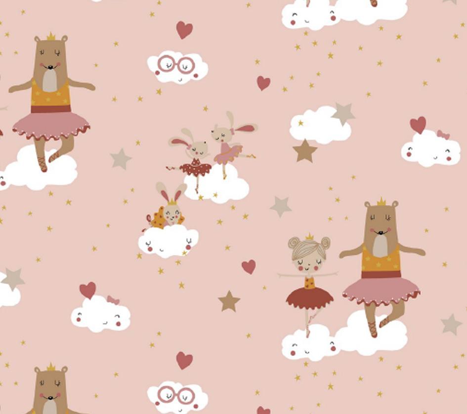 Sweet Ballerina Animals - Fundo Rosa