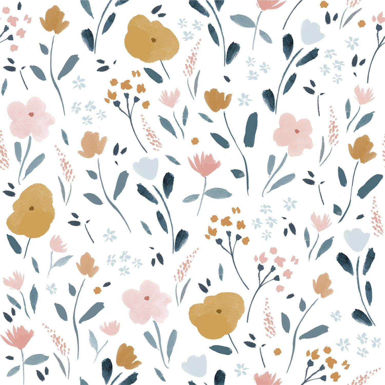Little Rat Flowers Poplin Fabric