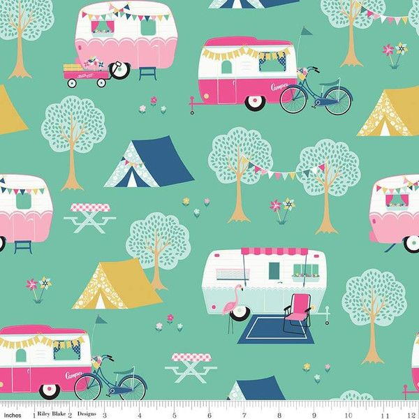 I'D rather be glamping - main teal