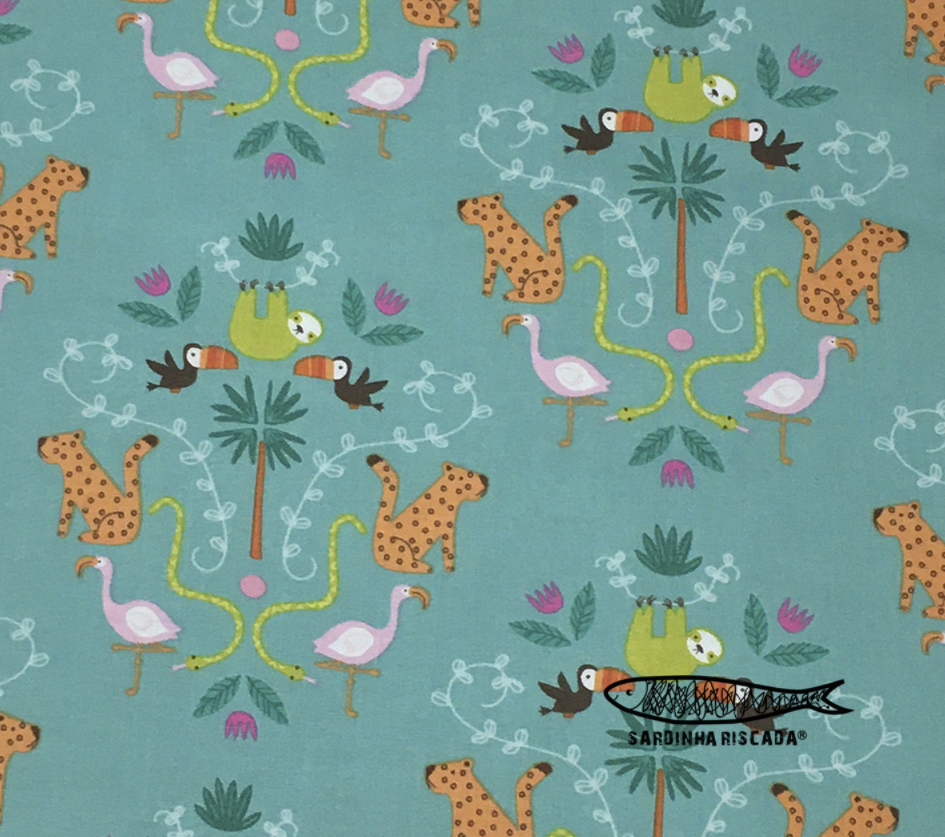 Under The Canopy - Animal Main Print In Green.
