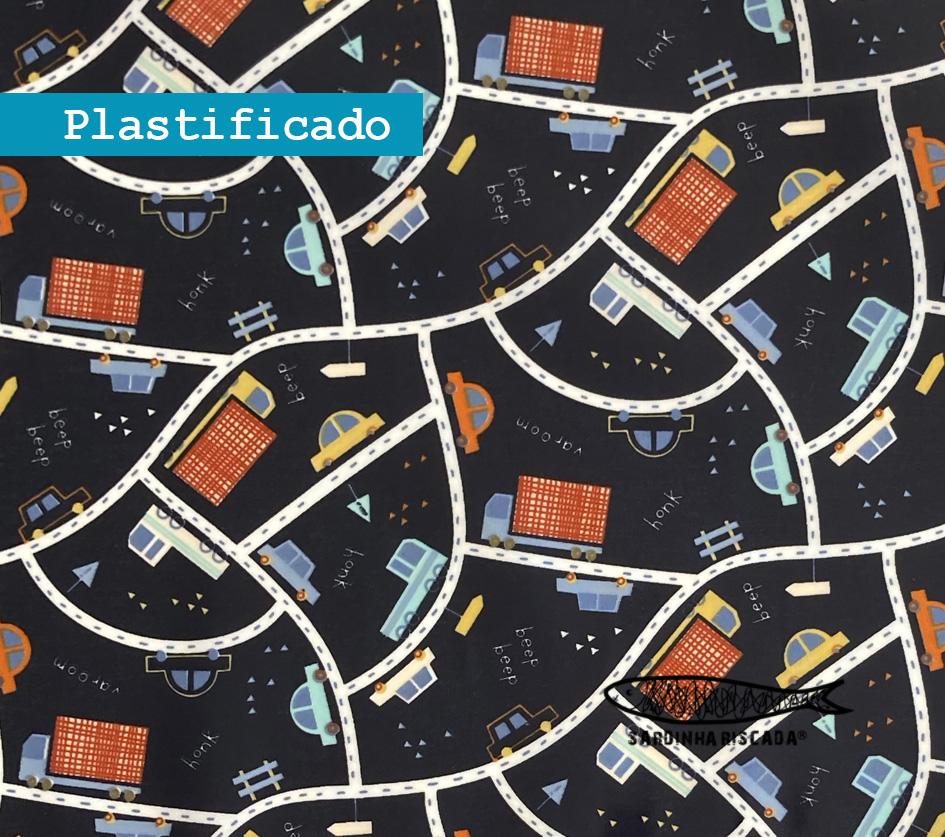 Traffic cars - Azul - Plastificado