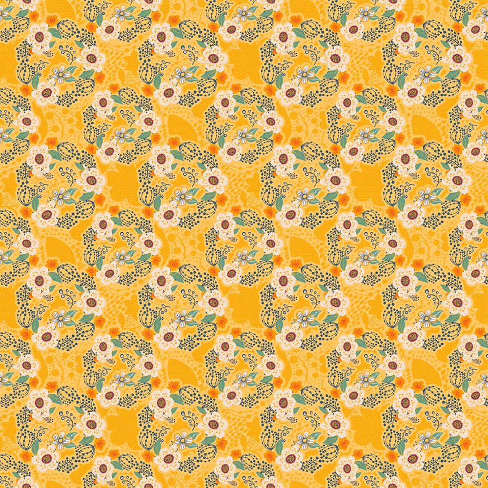Contemporâneo - Flores Pequenas Amarelo