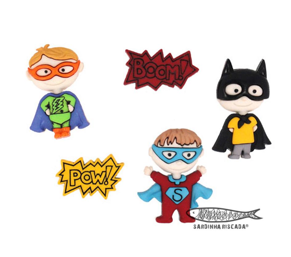 Botões super heróis