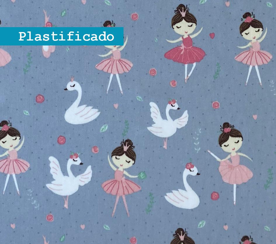 Bailarina Fundo Cinza - Plastificado