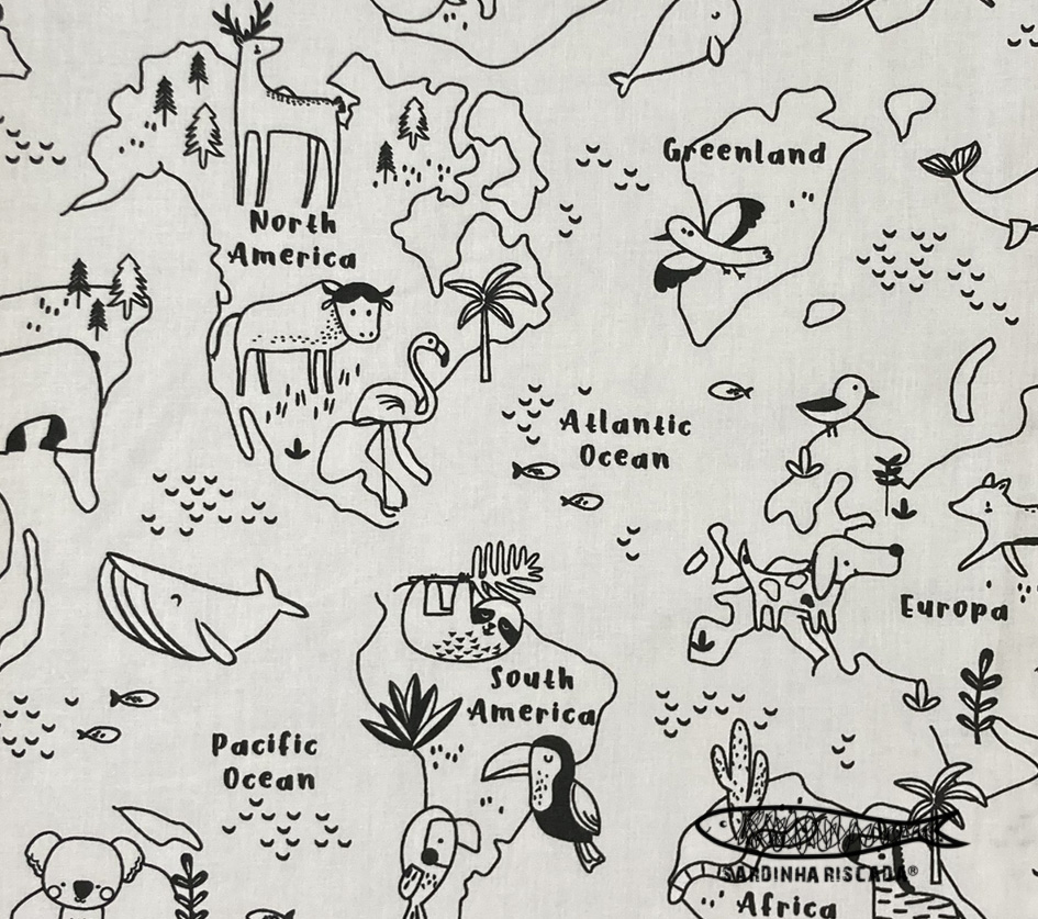 Map Zoo - Black and White