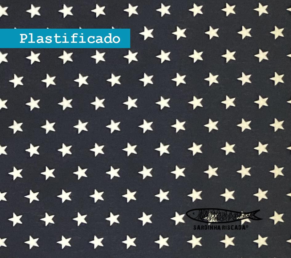 Estrelas Azul Escuro  - Plastificado