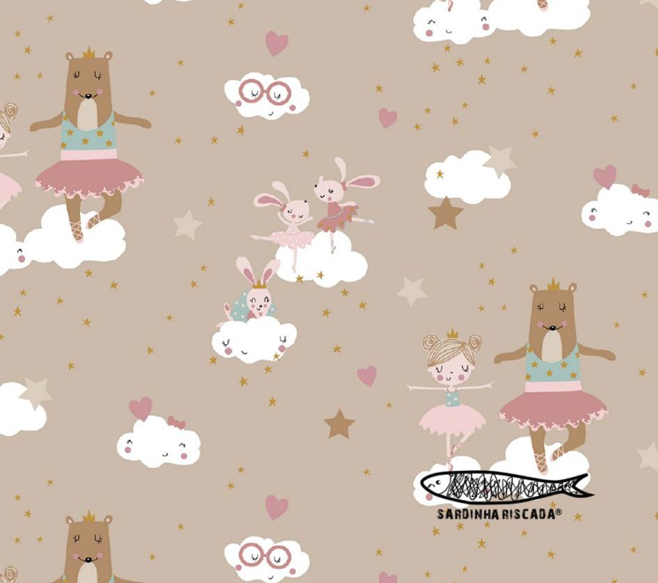 Sweet Ballerina Animals - Fundo Areia