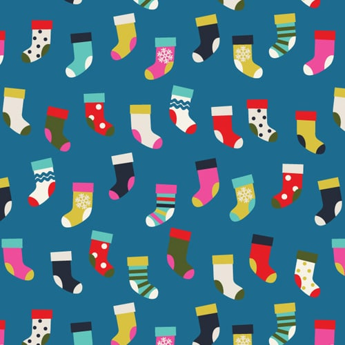 Merry and Bright - Christmas socks