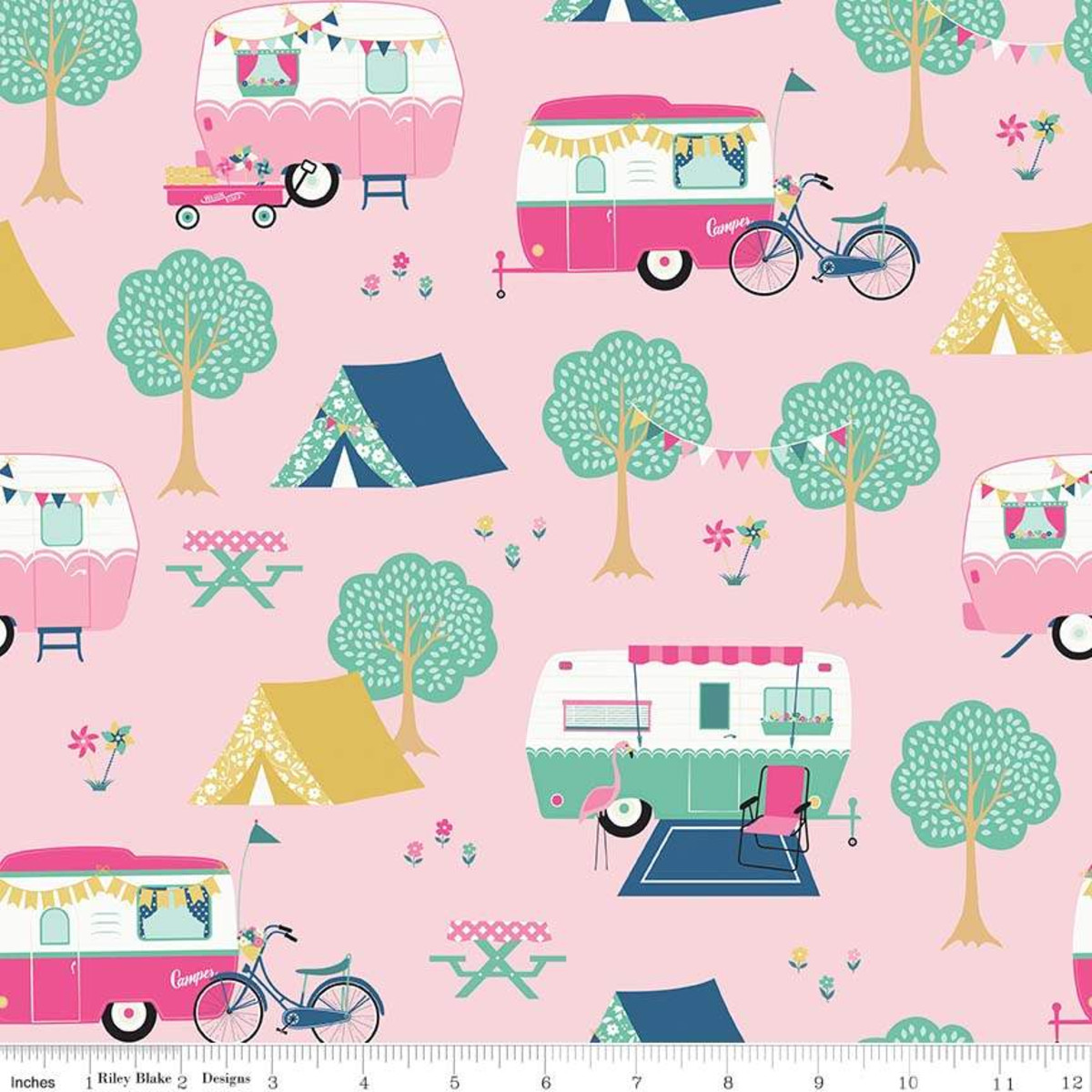 I'D rather be glamping - main pink