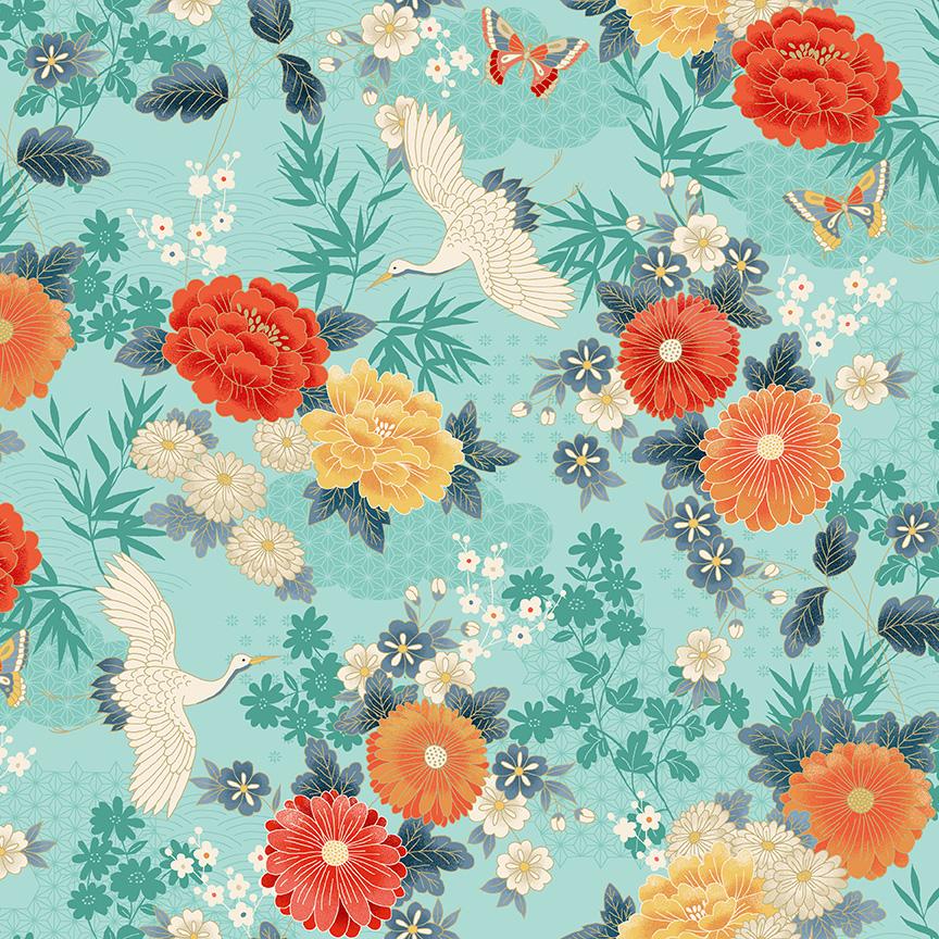 Michiko - Large Floral Blue