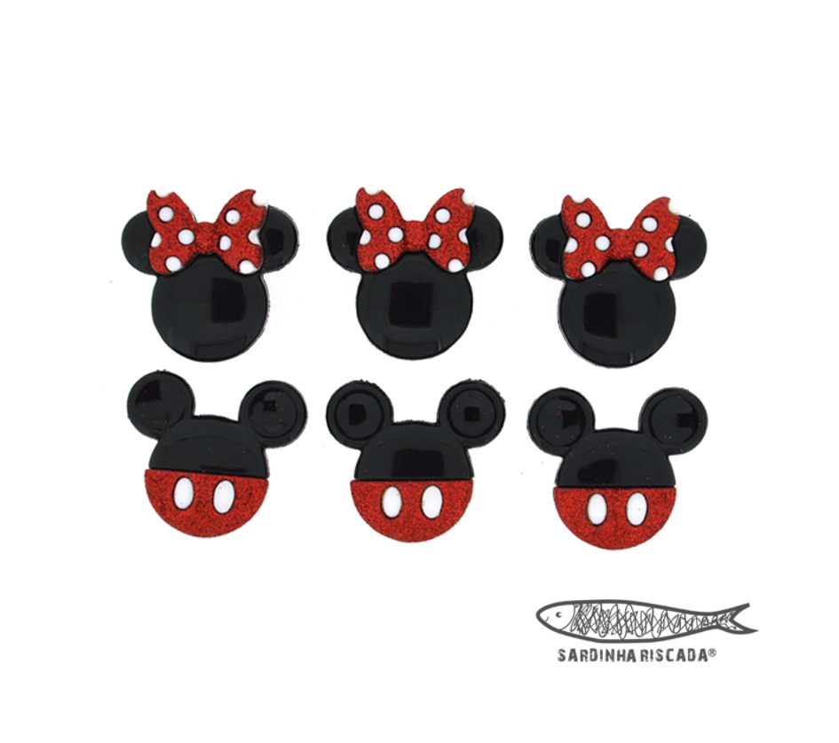 Botões Minie / Mickey