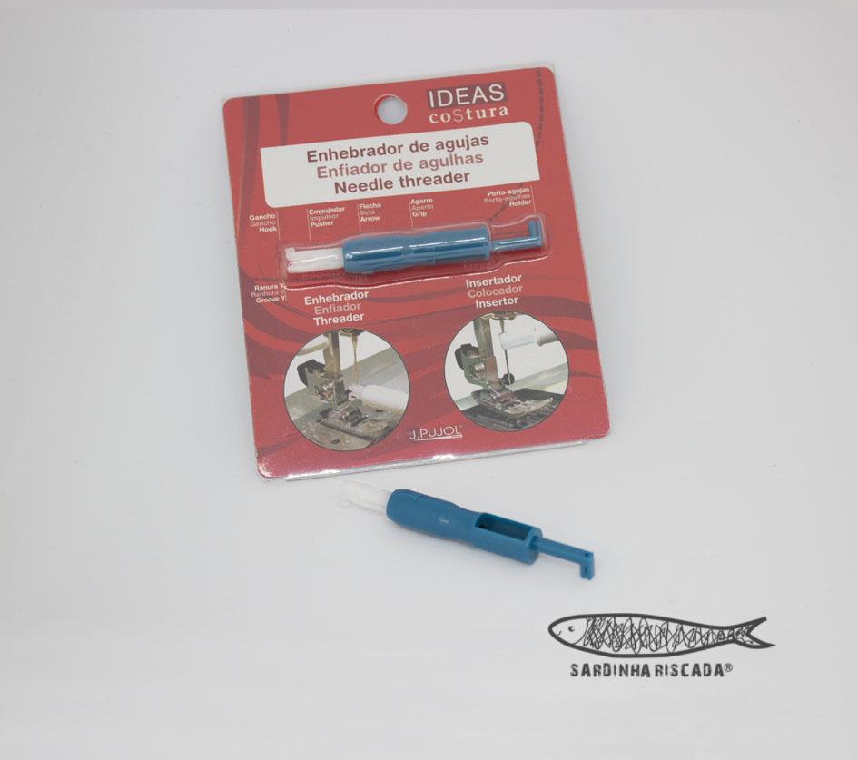Enfiador de linha e agulha para máquina de costura