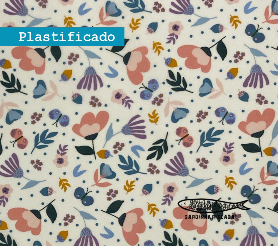 Flowers - Branco - Plastificado