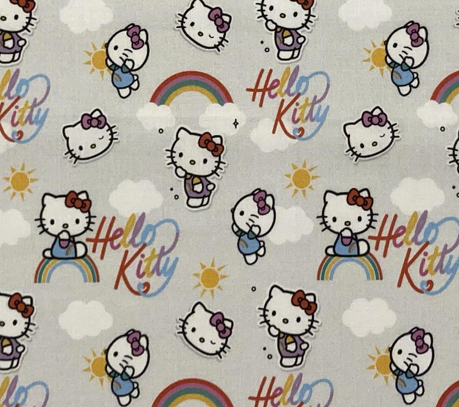 Hello Kitty Arco Íris - Cinza