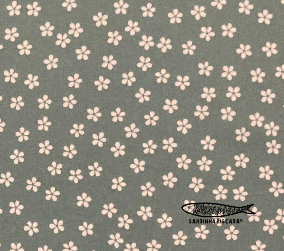 60s ditsy garden floral - Menta - Plastificado