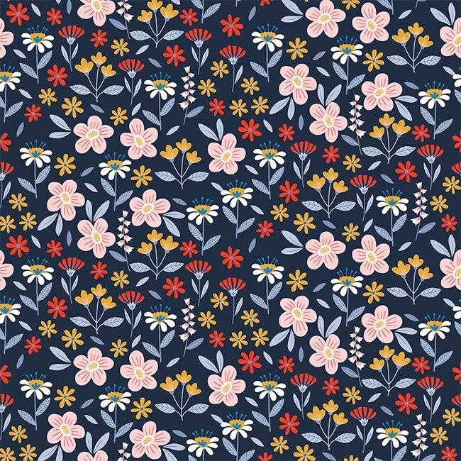 Wildflowers - Azul Marinho