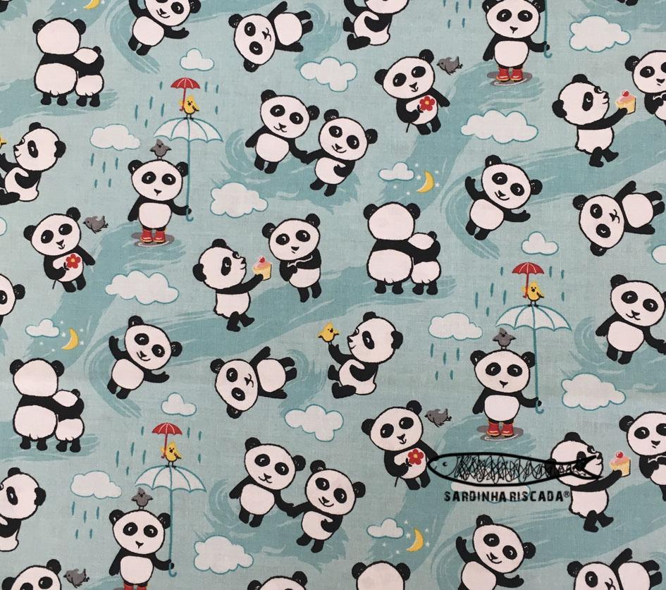 Panda love rain mint